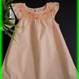 Gymboree Smocked Gingham Dress Size 3